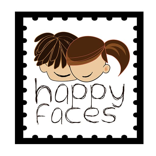 Happy faces logo